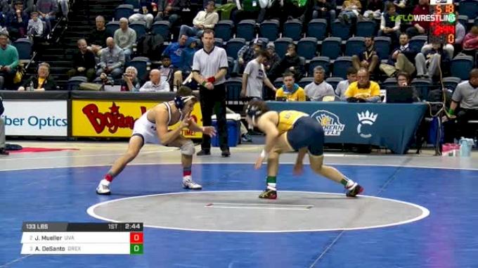 133 lbs Semifinal - Jack Mueller, Virginia vs Austin DeSanto, Drexel