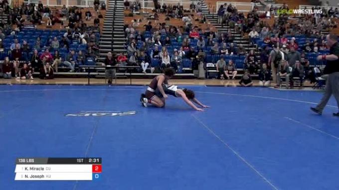 136 lbs Semifinal - Kayla Miracle, Campbellsville University W vs Nicole Joseph, King University W