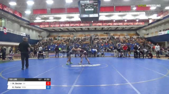 155 lbs Consi of 8 #1 - Morgan Becker, Campbellsville University W vs Kaylee Foster, Missouri Baptist University
