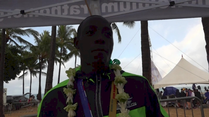 Ed Cheserek After Running Fastest-Ever Mile On Hawaiian Soil