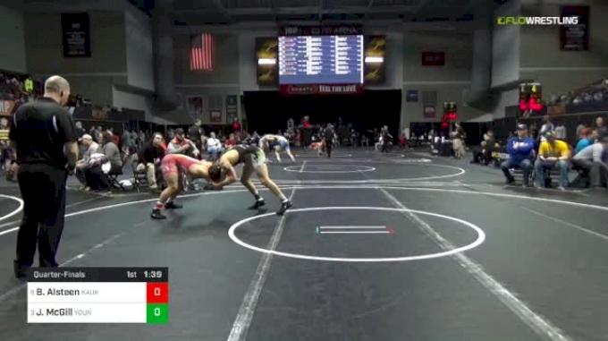 170 lbs Quarterfinal - Bryson Alsteen, Kaukauna Grappling Ghosts vs Jared McGill, Young Guns Wrestling Club