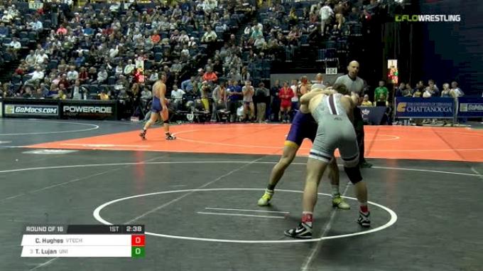 174 lbs Round of 16 - Cody Hughes, Virginia Tech vs Taylor Lujan, Northern Iowa