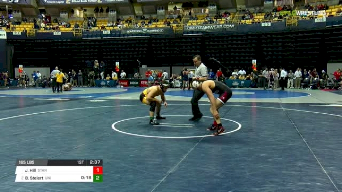 165 lbs Round of 16 - Jared Hill, Stanford vs Bryce Steiert, Northern Iowa
