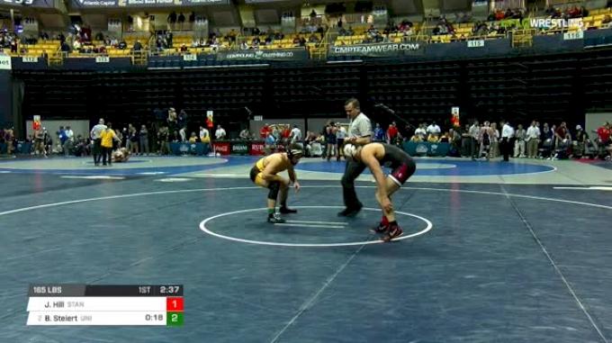165 lbs Round of 16 - Jared Hill, Stanford vs Bryce Steiert, Northern Iowa