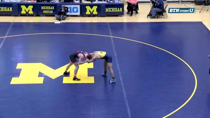 184 m, Domenic Abounader, Michigan vs Taylor Venz, Nebraska