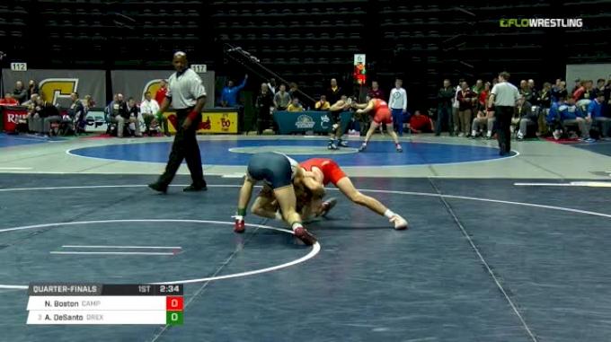 133 lbs Quarterfinal - Nathan Boston, Campbell vs Austin DeSanto, Drexel