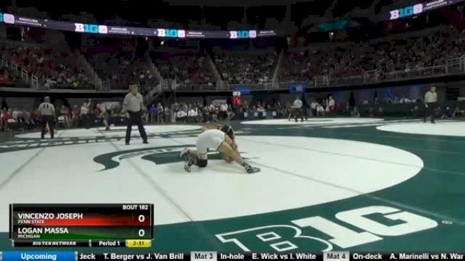 165 lbs Semifinal - Vincenzo Joseph, Penn State vs Logan Massa, Michigan