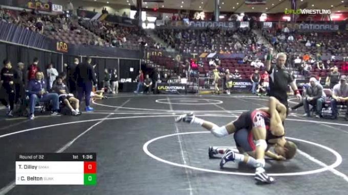 120 lbs Round Of 32 - Tyler Dilley, St. Marys vs Cleveland Belton, Sunkist Kids Monster Garage