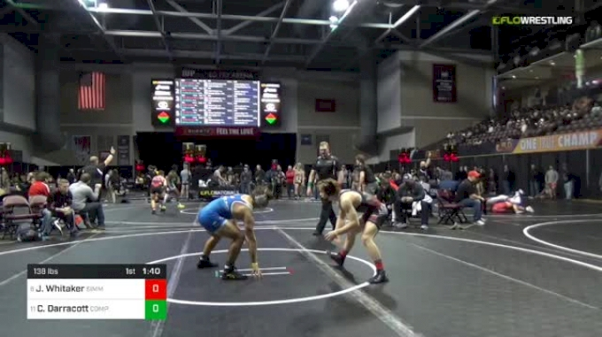 138 lbs Round Of 16 - James Whitaker, Simmons Academy Of Wrestling vs Charles Darracott, Compound