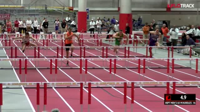Men's Heptathlon 60m Hurdles, Heat 2