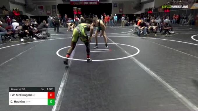 132 lbs Round Of 32 - Willie McDougald, Niagara Falls vs Corbin Hopkins, TYW