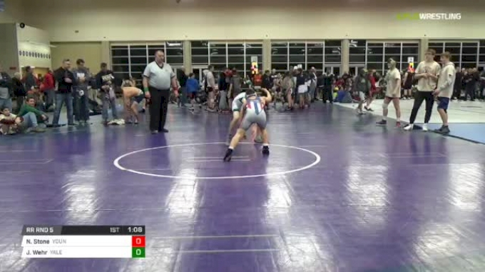 119 lbs Rr rnd 5 - Nathan Stone, Young Guns Power MS vs Jacob Wehr, Yale Street Wrestling Club MS