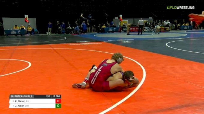 141 lbs Quarterfinal - Kyle Shoop, Lock Haven vs Josh Alber, Northern Iowa