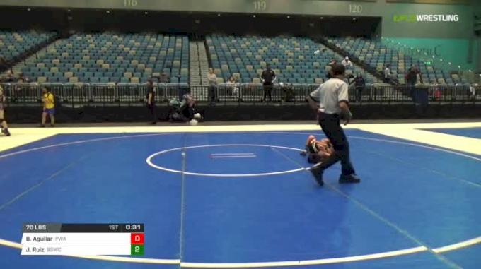 70 lbs Final - Benjamin Aguilar, Powerhouse Wrestling Academy vs Justin Ruiz, Spanish Springs Wrestling Club