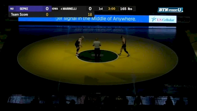 165 lbs m, Michael Sepke, Northwestern vs Alex Marinelli, Iowa