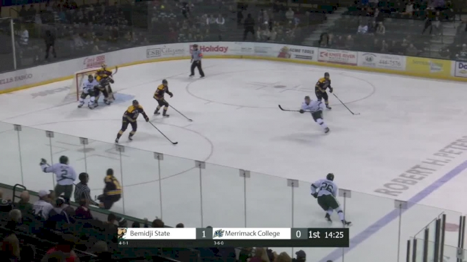 Highlights: Bemidji State Explodes For 8 Goals vs Merrimack