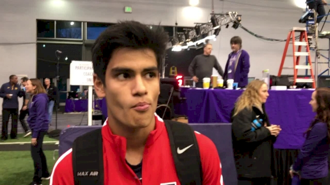 Carlos Villarreal kicks his way to a 3:59 mile