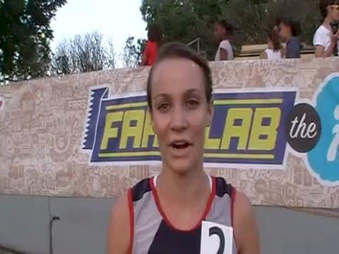 Hanna Peterson, 1st girls 3200, 2011 Mt. SAC Relays