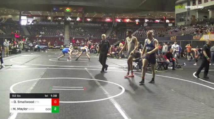 152 lbs Quarterfinal - Derrick Smallwood, ETC vs Max Maylor, Sarbacker Wrestling Academy