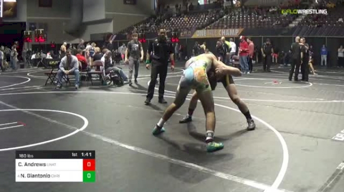 160 lbs Round Of 16 - Cameron Andrews, Unattached vs Nick Giantonio, Christiansburg