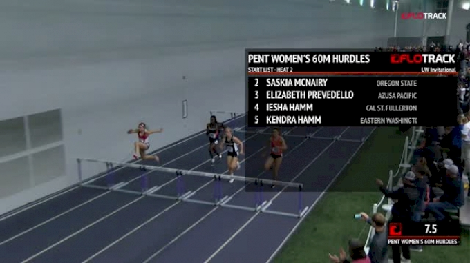 Women's Pentathlon 60m Hurdles, Heat 2