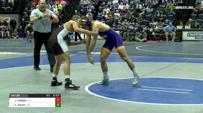 141 lbs Round of 16 - Jake Hodges, Northern Iowa vs Luke Karam, Lehigh