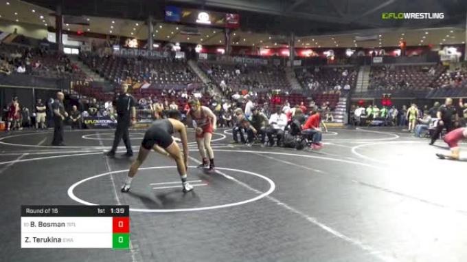 132 lbs Round Of 16 - Bryce Bosman, TitleTown Wrestling Club/ Askren Wrestling Academy vs Zayren Terukina, Ewa Wrestling Association