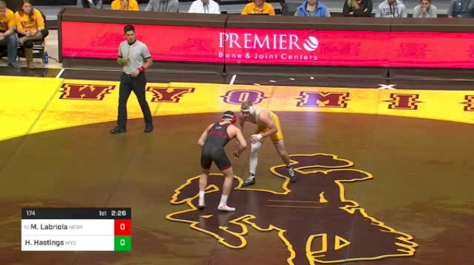 174 lbs Mikey Labriola, Nebraska vs Hayden Hastings, Wyoming