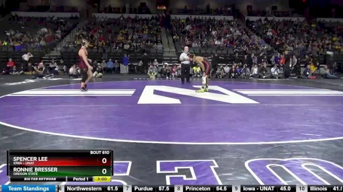 125, Semifinal, Ronnie Bresser (Oregon State) vs Spencer Lee (Iowa - UNAT)