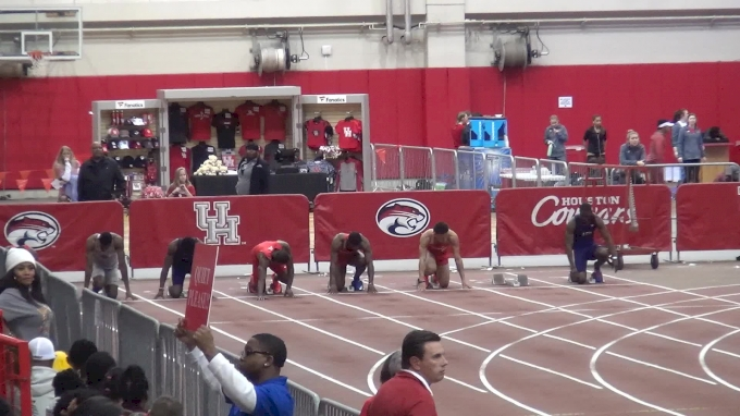 Men's 60m, Final - Houston's Eli Hall 6.60!