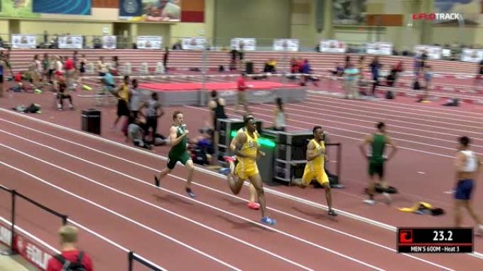 Men's 600m, Heat 3