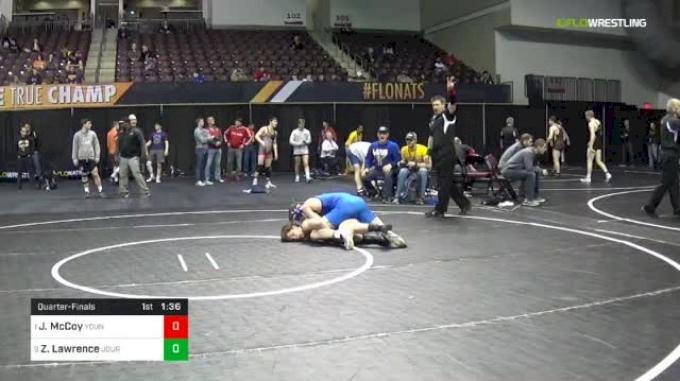 152 lbs Quarterfinal - Justin McCoy, Young Guns Wrestling Club vs Zack Lawrence, Journeymen
