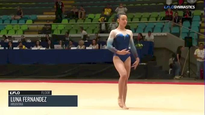 Luna Fernandez - Floor, Argentina - 2018 Pacific Rim Championships