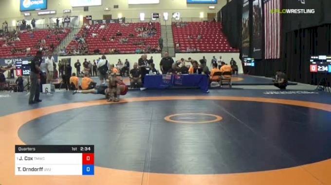 92 kg Quarters - J'den Cox, TMWC vs Tanner Orndorff, Utah Valley RTC