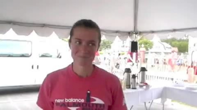 Kim Conley 5th overall & third american at Falmouth Road Race 2011