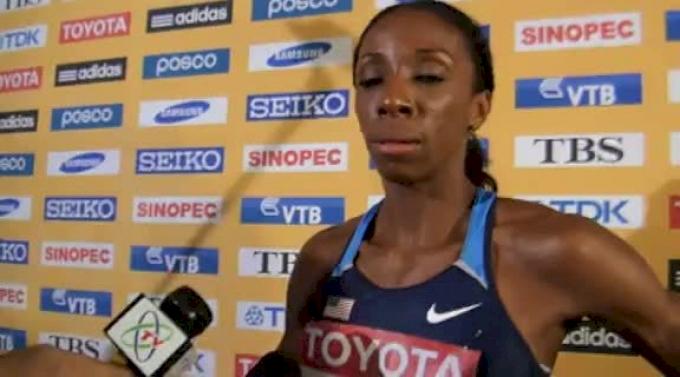 Lashinda Demus World 400 Hurdle Champion at Daegu 2011 World Track Championships