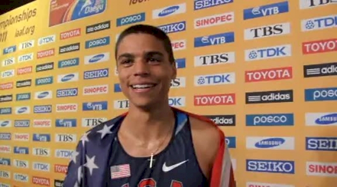 Matt Centrowitz psyched after winning bronze in 1500 at Daegu 2011 World Track Championships
