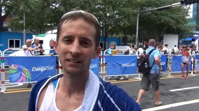 Mike Morgan First American marathon Finisher Daegu 2011 World Championships