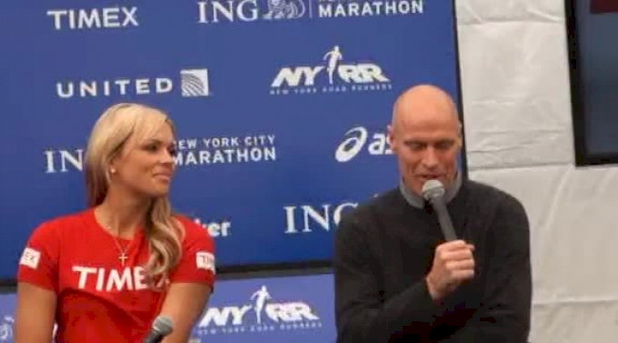 Mark Messier, Jennie Finch and Apolo Ohno give time goals for New York City Marathon 2011