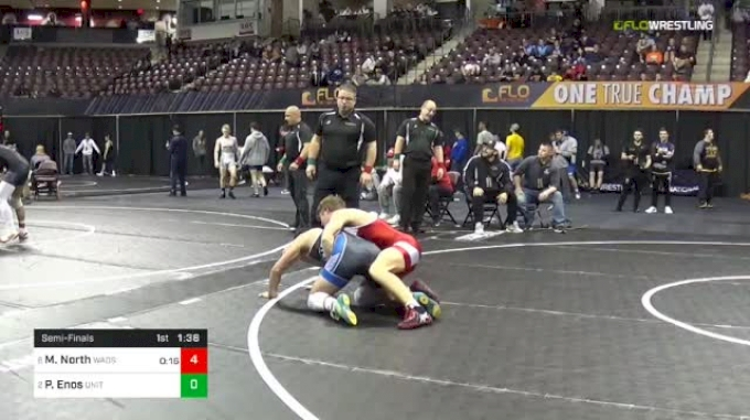 145 lbs Semifinal - Michael North, Wadsworth Wrestling vs Peter Enos, United States Wrestling Academy