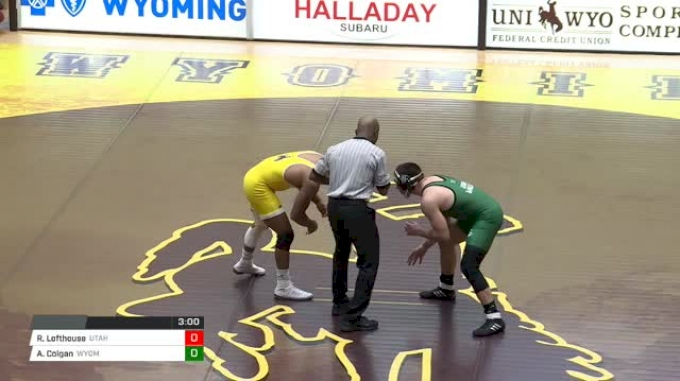 157 lbs Raider Lofthouse, Utah Valley vs Archie Colgan, Wyoming