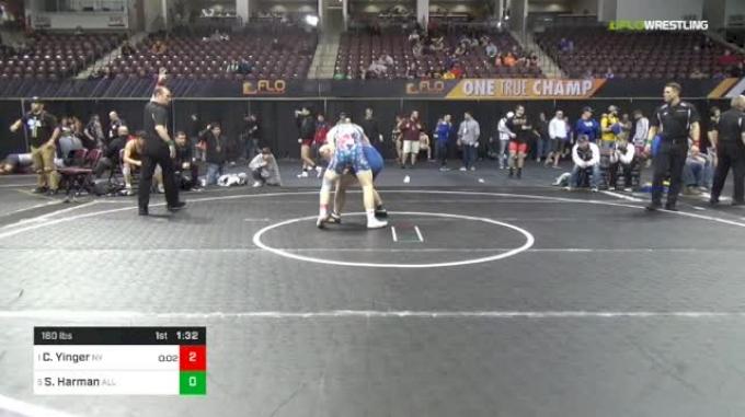 160 lbs Semifinal - Colt Yinger, Nelsonville-York vs Sean Harman, All Phase Wrestling Club