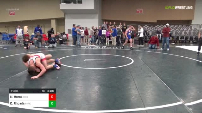 125 lbs Final - Noah Horst, Beech vs Davin Rhoads, Parkview W.C.
