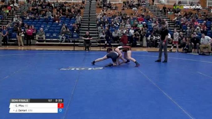 109 lbs Semifinal - Cody Pfau, Emanuel College vs Jessica DeHart, Eastern Oregon University