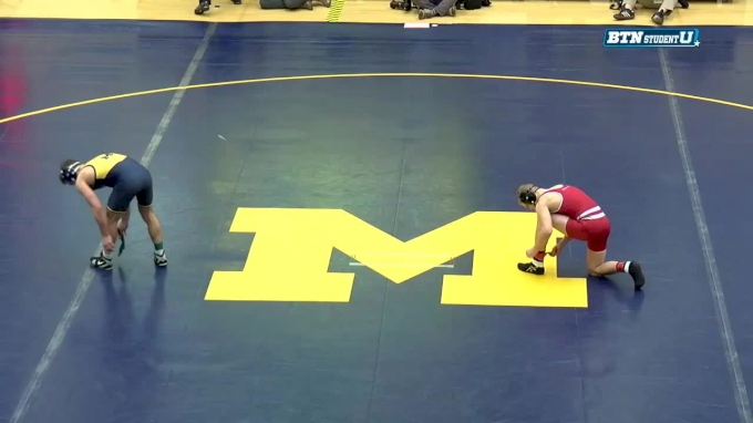 141 lbs, Eli Stickley, Wisconsin vs Sal Profaci, Michigan
