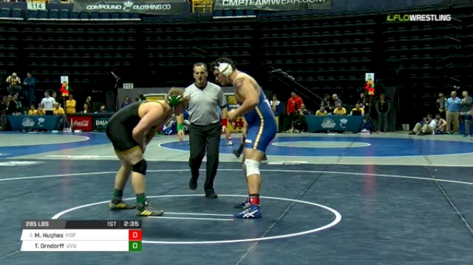 285 lbs Round of 16 - Mike Hughes, Hofstra vs Tate Orndorff, Utah Valley