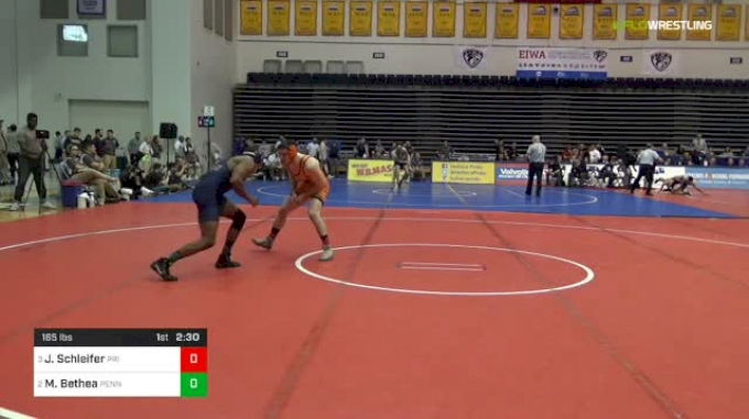 165 lbs Semifinal - Jonathan Schleifer, Princeton vs May Bethea, Penn