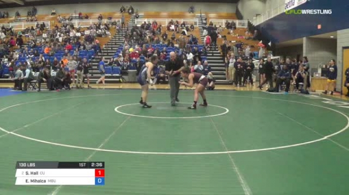 130 lbs Quarterfinal - Shelby Hall, Campbellsville University W vs Erika Mihalca, Missouri Baptist University