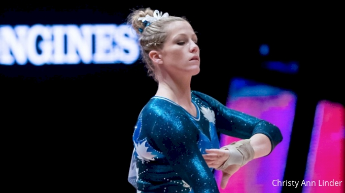 Brittany Rogers on beam - Worlds 2015