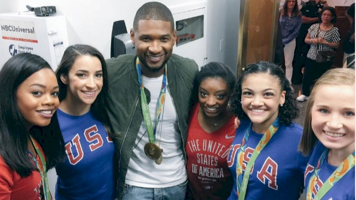 The final five meet usher first zac efron and now usher after their tremendous success at the 2016 rio olympics usas gymnastics team of simone biles gabby douglas m4hsunfo